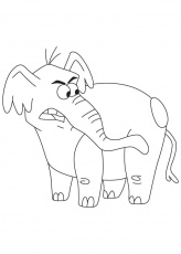 Angry elephant coloring page | Download Free Angry elephant