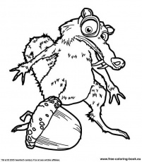 ice age 3 coloring pages free