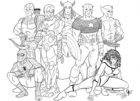 Avengers Coloring Pages | ColoringMates.