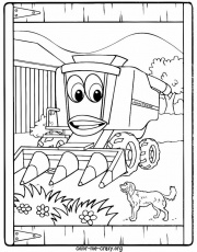 johnny tractor coloring pages