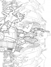 Lego Castle And Knight Free Printable Coloring Page For