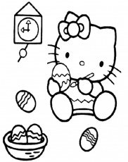 paint kitty Colouring Pages