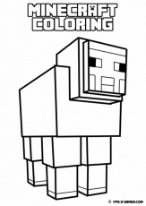 Printable Minecraft Coloring Sheep Spider Id 9065 Uncategorized