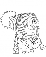 DRESS UP GIRL Colouring Pages