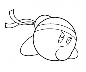 4 kirby coloring page