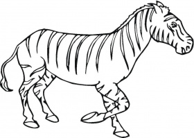 Printable Zebra Coloring Pages for Kids | ThoughtfulCardSender.
