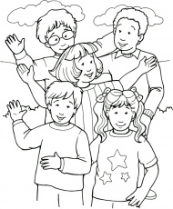 coloring page of people