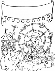 state fair coloring pages