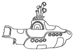 The Beatles Yellow Submarine Coloring Page Coloring Home