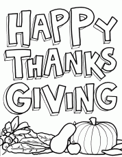 Happy Thanksgiving Coloring Pages Printables - Picture 5 – Happy
