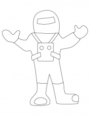 Astronaut dress coloring pages | Download Free Astronaut dress