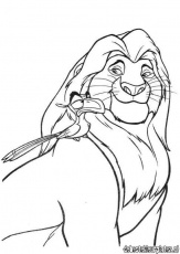 LION KING ZIRA Colouring Pages (page 2)