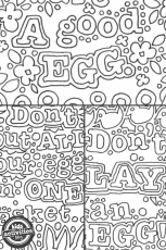 Free Kids Easter Egg Doodle Coloring Pages - Kids Activities Blog