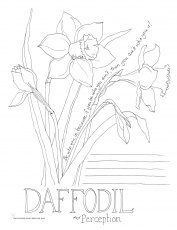 Daffodil (Perception) Coloring Page - My Soulflower