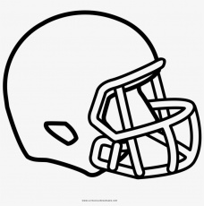 Football Helmet Coloring Page - Casco De Rugby Dibujo - 1000x1000 PNG  Download - PNGkit