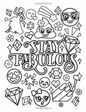 Amazon.com: Emoji Coloring Book for Girls: of Funny Stuff, Inspirational  Quotes & Super Cute Animals, 3… | Coloring books, Love coloring pages,  Quote coloring pages