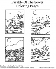 Parable Of The Sower- Coloring Page Â« Crafting The Word Of God