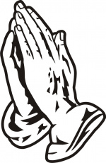 Praying Hands Coloring Page Coloring Home