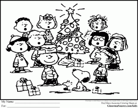 Charlie Brown Christmas Coloring Book - High Quality Coloring Pages