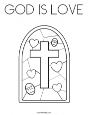 GOD IS LOVE Coloring Page - Twisty Noodle