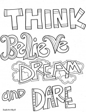 Inspirational Quotes Coloring Pages. QuotesGram