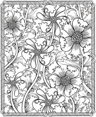 Amazing Flower Coloring Pages For Adults - Coloring Pages For All Ages