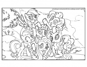 Little pony friendship magic coloring pages for Little pony coloring pages pdf