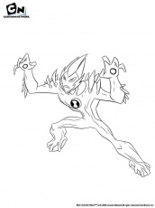 Coloriage BEN 10 ALIEN FORCE - Coloriage de Swampfire