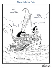 Moana Coloring Pages | Disney Family