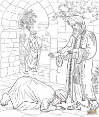 Parable of the Two Debtors coloring page | Free Printable Coloring ...
