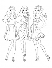 Barbie Color Pages Games - High Quality Coloring Pages