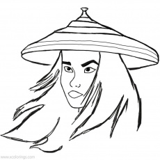 Raya And The Last Dragon Coloring Pages Raya Portrait - XColorings.com