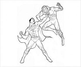 FREE 9+ Superman Coloring Pages in AI
