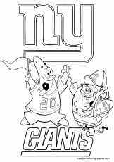 New York Giants Logo Coloring Page - High Quality Coloring Pages