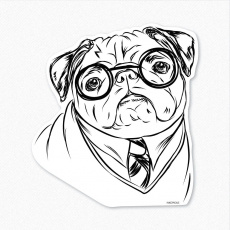 Christmas Pug Coloring Pages Printable Pug Coloring Pages. Kids ...