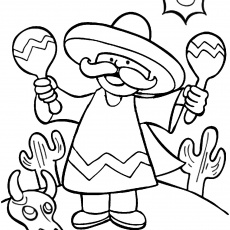 free coloring pages of cinco de mayo