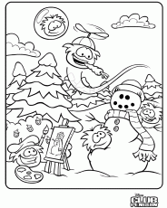 Club Penguin - Coloring Pages for Kids and for Adults