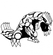 Coloring Pages Pokemon - Groudon - Drawings Pokemon
