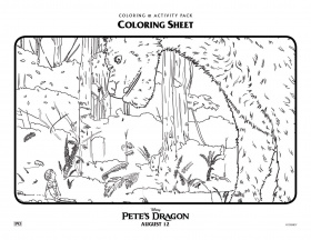 Petes Dragon Coloring Pages 5