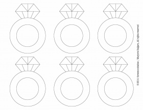 Diamond Ring Template Printable