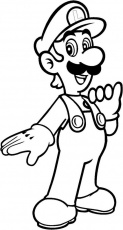 Free Printable Luigi Coloring Pages For Kids | Super mario coloring pages,  Mario coloring pages, Cartoon coloring pages