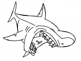 Laughing Shark Jaws Coloring Pages : Best Place to Color