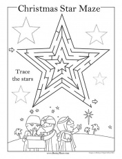 Free Printable Christmas Mazes - Superstar Worksheets