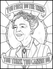 Eleanor Roosevelt Coloring Page Free Printable Coloring Pages Coloring Home