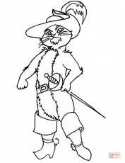 Puss in Boots coloring page | Free Printable Coloring Pages