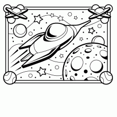 Outer Space Coloring Pages - HiColoringPages