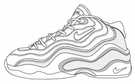 Nike Shoes - Coloring Pages for Kids and for Adults