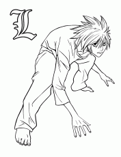 Death note to print for free - Death Note Kids Coloring Pages