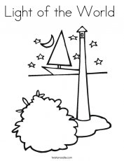 Jesus Is The Light Of The World Coloring Page | Coloring Pages ...
