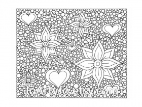Zentangle Inspired Printable Coloring Page Hearts and by JoArtyJo